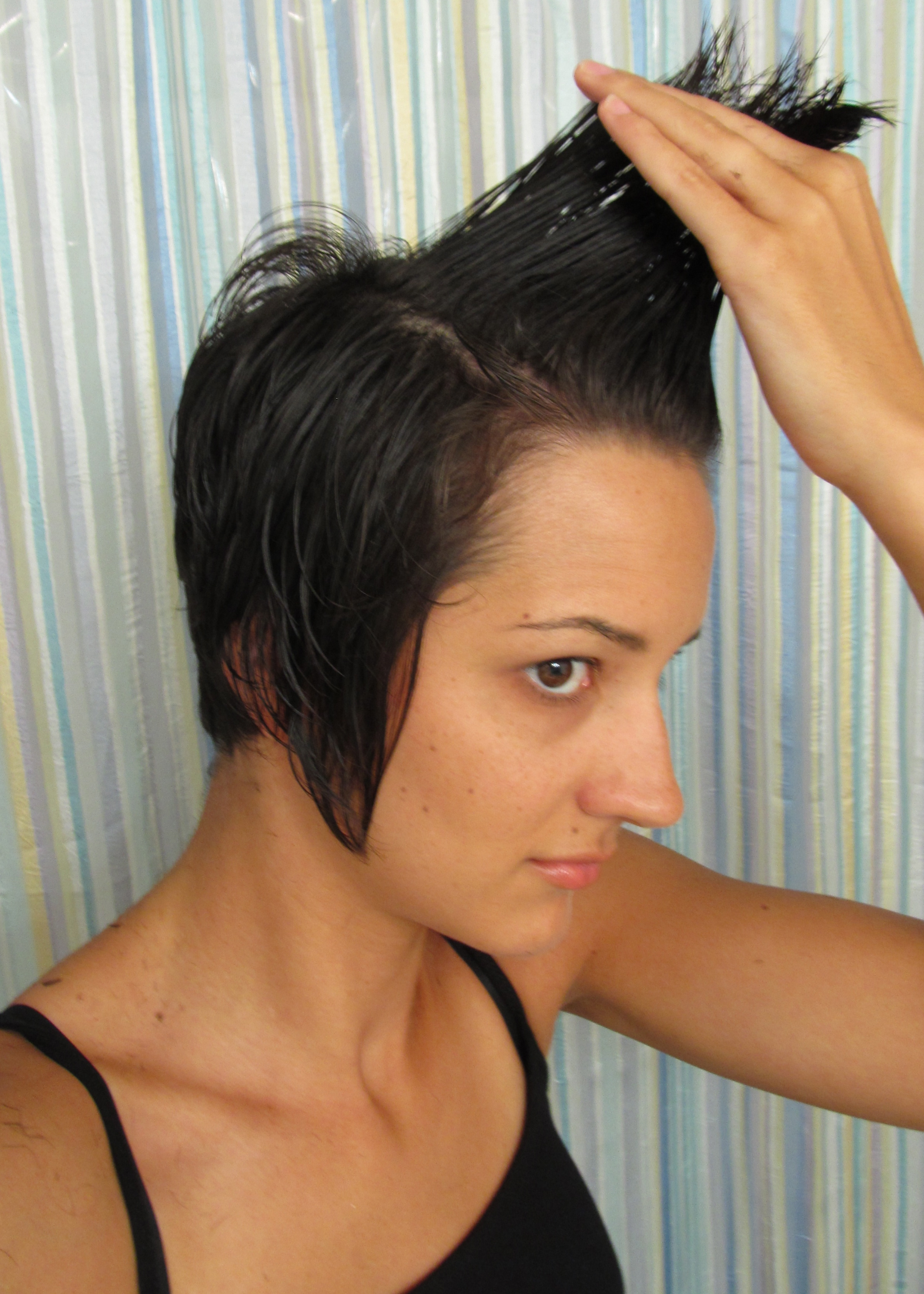 How to cut your own hair and save. Start with a trim to practice and