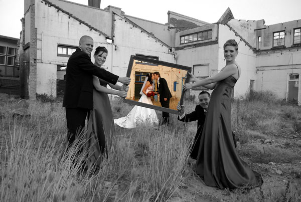 creative wedding photo