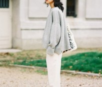 Grey sweater – distinctive sign for autumn